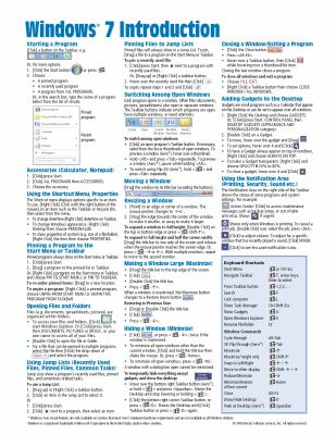 windows 7 quick reference guide cheat book by beezix inc rh thriftbooks com windows 7 quick guide windows 7 quick guide