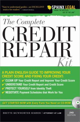 The complete credit repair kit book by brette mcwhorter sember the complete credit repair kit solutioingenieria Images