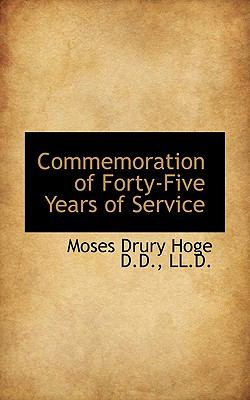 Paperback Commemoration of Forty-Five Years of Service Book
