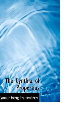 Paperback The Cynthia of Propertius Book