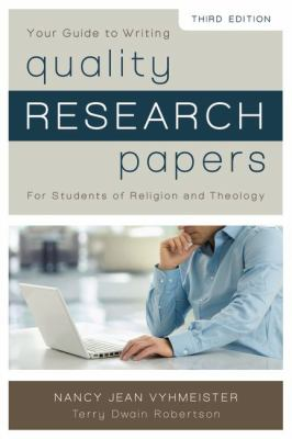 nancy vyhmeister quality research papers