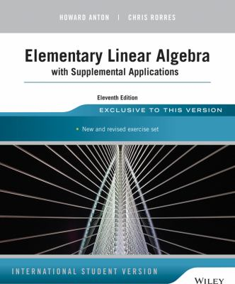 Elementary Linear Algebra With Book By Howard Anton