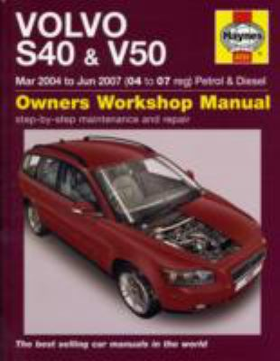 Volvo S40 and V50 Petrol and Diesel Service and Repair Manual: 2004-2007 (Haynes Service and Repair Manuals) - Randall, Martynn