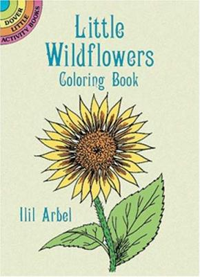 Little Wildflowers Coloring Book Dover By Ilil Arbel