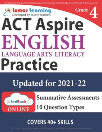 Act Aspire Test Prep Grade 4 English Book By Lumos Learning