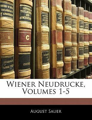 Paperback Wiener Neudrucke Book