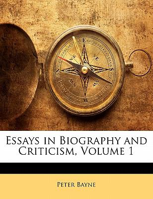 Paperback Essays in Biography and Criticism Book