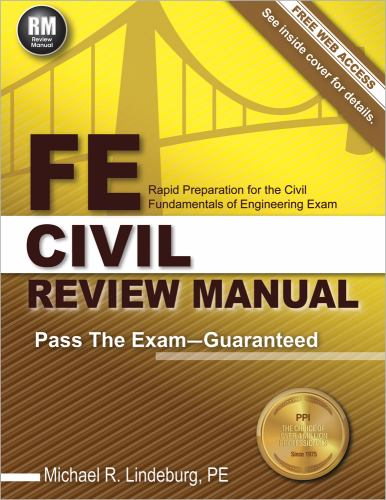 FE Civil Review Manual book by Michael R  Lindeburg