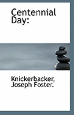 Paperback Centennial Day Book