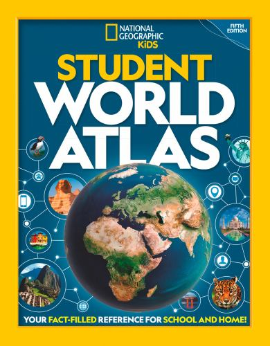 Paperback National Geographic Student World Atlas Book