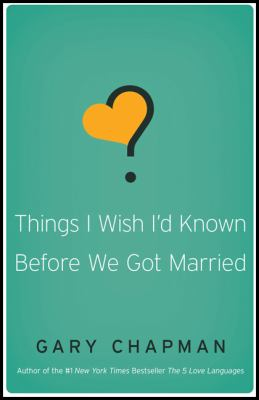 Paperback Things I Wish I'd Known Before We Got Married Book