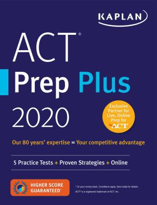 Paperback ACT Prep Plus 2020 : 5 Practice Tests + Proven Strategies + Online Book