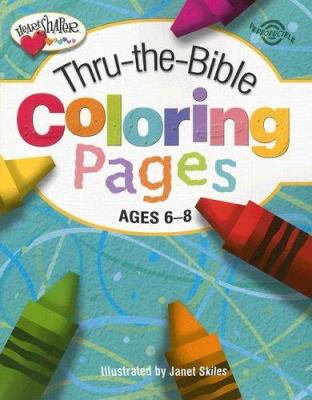 Paperback Thru-the-Bible Coloring Pages, Ages 6-8 Book