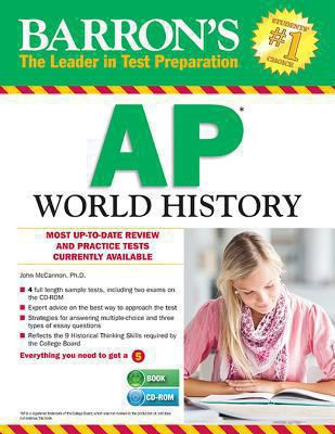 Paperback Barron's AP World History with CD-ROM, 6th Edition Book