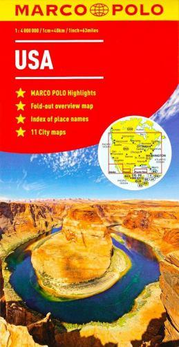 Map USA Marco Polo Map (Marco Polo Maps) Book