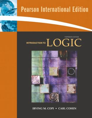 Introduction To Logic Book By Irving M Copi