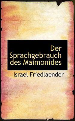 Paperback Der Sprachgebrauch des Maimonides Book