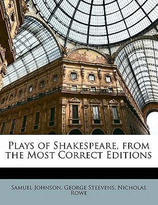 Paperback Plays of Shakespeare, from the Most Correct Editions Book