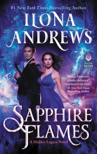 Hardcover Sapphire Flames : A Hidden Legacy Novel Book