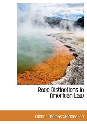 Paperback Race Distinctions in American Law [Large Print] Book