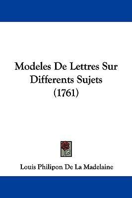 Hardcover Modeles de Lettres Sur Differents Sujets Book
