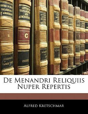 Paperback De Menandri Reliquiis Nuper Repertis Book