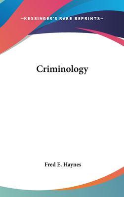 Hardcover Criminology Book
