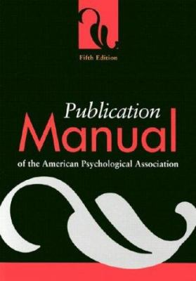 Paperback Publication Manual of the American Psychological Association Book