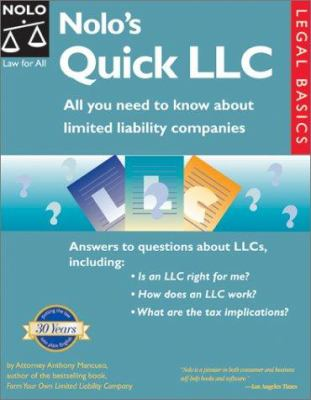 Nolo S Quick Llc All You Need To Know Book By Anthony A Mancuso