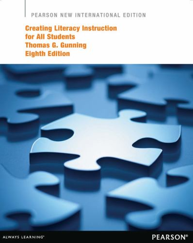 Creating Literacy Instruction For All Book By Thomas G Gunning