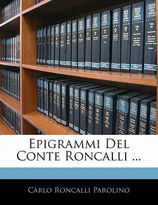 Paperback Epigrammi Del Conte Roncalli Book