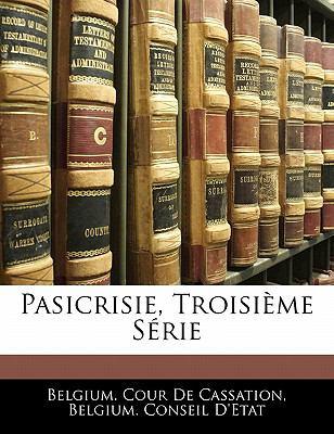 Paperback Pasicrisie, Troisi?me S?rie Book