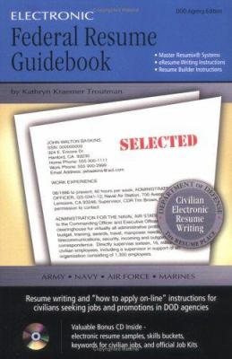Electronic Federal Resume Guidebook by Kathryn K Troutman