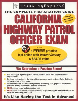 California Highway Patrol Officer Exam Book By Learningexpress