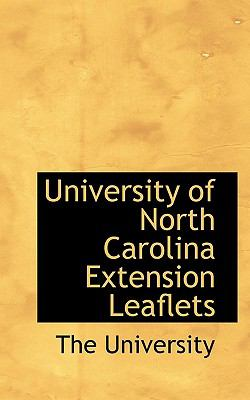 Paperback University of North Carolina Extension Leaflets Book