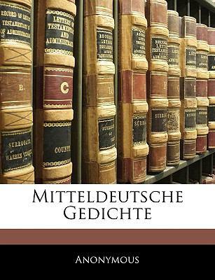 Paperback Mitteldeutsche Gedichte Book
