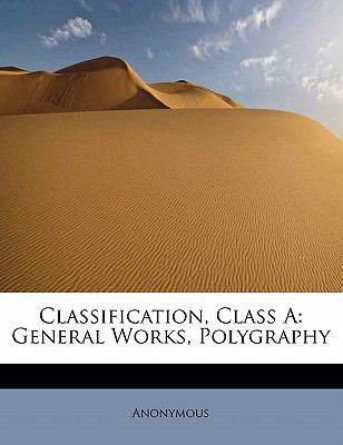 Paperback Classification, Class : General Works, Polygraphy Book