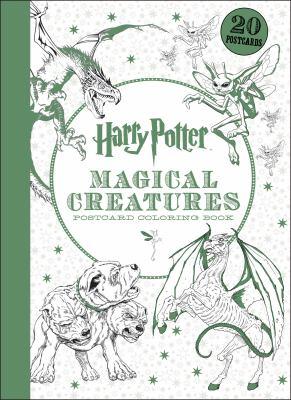 harry potter magical creatures postcard coloring book - Harry Potter Coloring Books