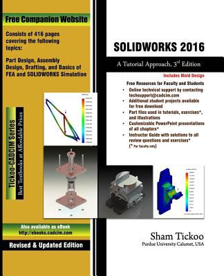 Solidworks 2016 A Tutorial Approach Book By Sham Tickoo
