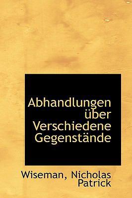Paperback Abhandlungen ?ber Verschiedene Gegenst?nde Book