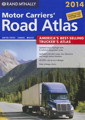 Perfect Paperback Rand Mcnally Motor Carriers' Road Atlas Book