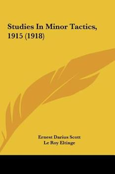 Hardcover Studies in Minor Tactics 1915 Book