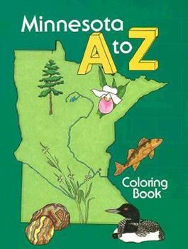 Paperback Minnesota A to Z Coloring Book