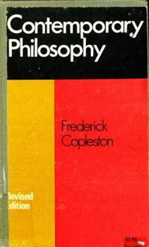 Contemporary Philosophy: Studies of Logical Positivism & Existentialism 085532189X Book Cover