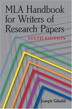 Paperback MLA Handbook for Writers of Research Papers, 6th Ed Book