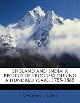 Paperback England and India; a record of progress during a hundred Years, 1785-1885 Book