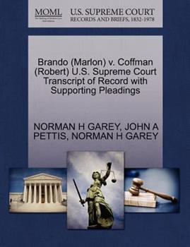 Paperback Brando V. Coffman U. S. Supreme Court Transcript of Record with Supporting Pleadings Book