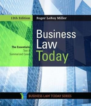 Business Law Today: The Essentials 0324204841 Book Cover