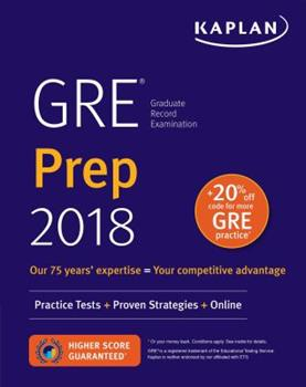 Paperback GRE 2018 Strategies, Practice, and Review with 4 Practice Tests : Online + Book