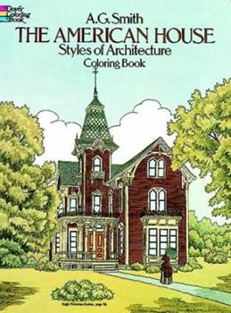 Paperback The American House Styles of Architecture Coloring Book